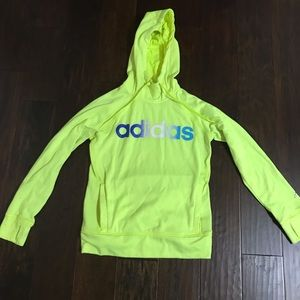 Yellow Adidas Pullover Hoodie